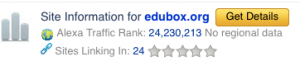 Alexa Rank de edubox.org