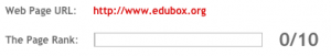 PageRank de Edubox.org