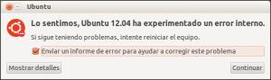 mensaje error ubuntu